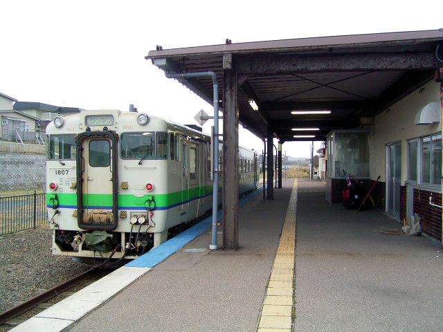 在りしの江差線:江差駅にて